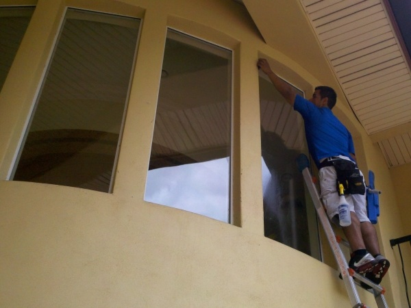 Window being cleaned in Orlando FL